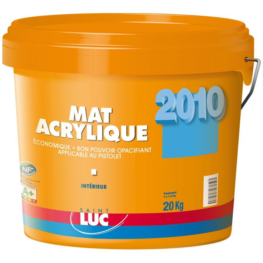 MAT ACRYLIQUE - PEINTURES SAINT-LUC - Gamme Grands Chantiers
