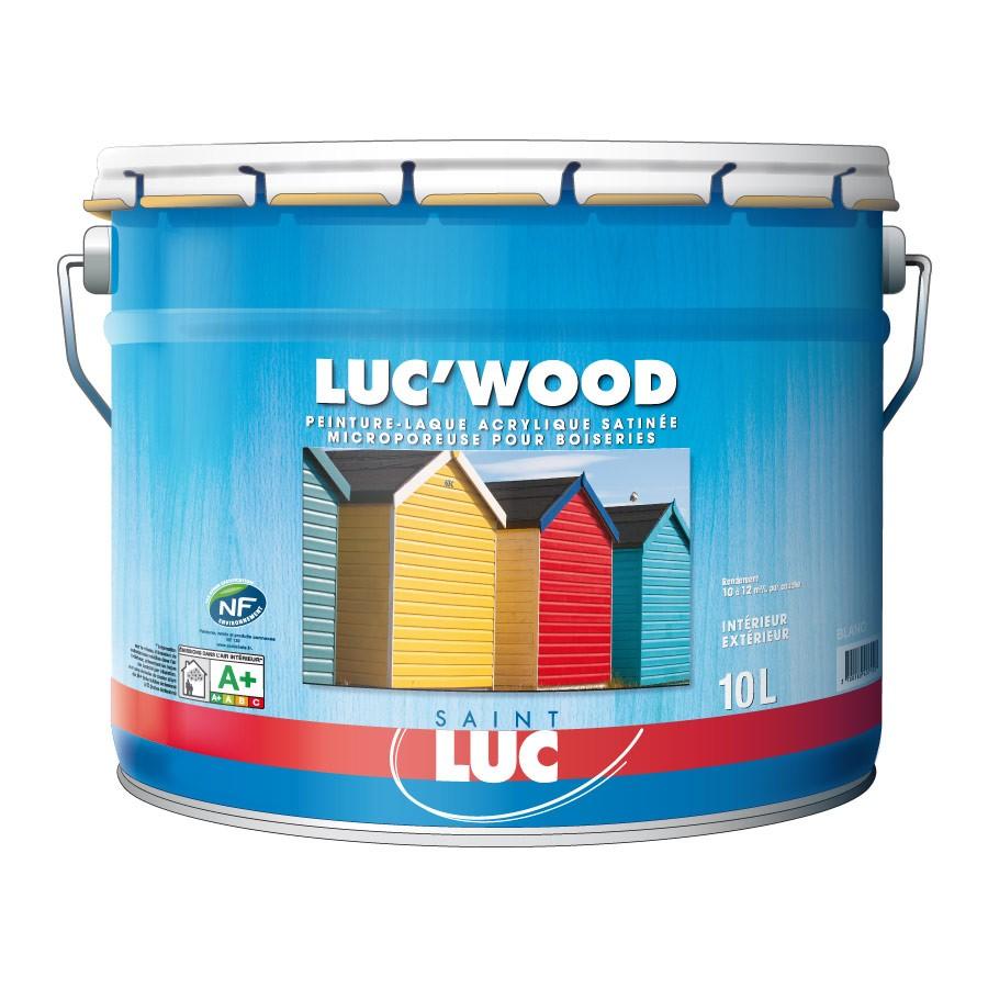 LUC'WOOD 10L - PEINTURES SAINT-LUC - Gamme Bois & Métaux