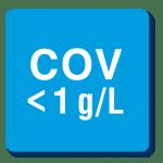 COV < 1g/l