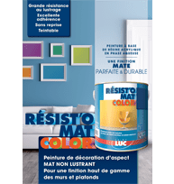 GUIDE RESIST'O MAT COLOR - peintures professionnelles Saint-Luc