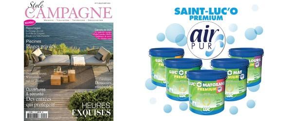 Style Campagne - JUIN 2018 - Gamme Saint-Luc'O - Des peintures respectueuses de l'Homme et de l'environnement