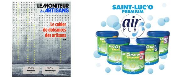 Le Moniteur des Artisans - avril 2019 - Peintures Saint-Luc - Saint-Luc'O Air-pur Mat premium