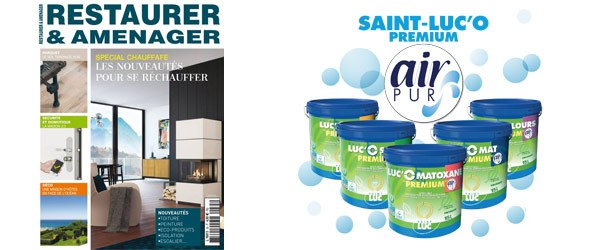 RESTAURER & AMENAGER - SEPT 2018 - SAINT-LUC'O Premium Air Pur