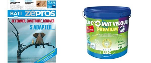 Zepros Métiers Bati nov 2019 - SAINT-LUC'O MAT VELOUTÉ Premium 2en1 – Air Pur - Peintures Professionnelles Saint-Luc
